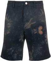 Paul Smith tie-dye denim shorts