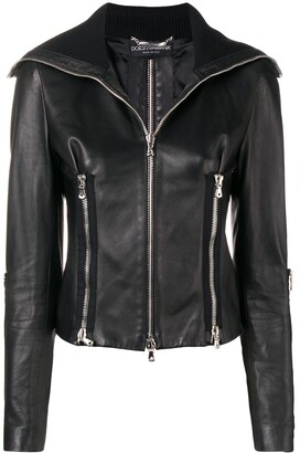 Dolce & Gabbana Pre-Owned leather biker jacket