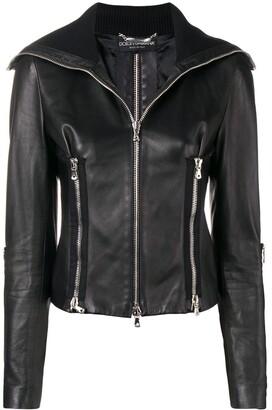Dolce & Gabbana Pre-Owned Leather Biker Jacket