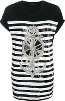 Balmain embellished anchor T-shirt