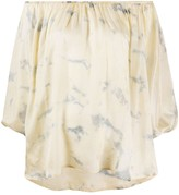 Mes Demoiselles Tie-Dye Off-The-Shoulder Blouse