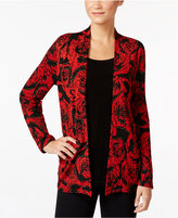 JM Collection Floral-Print Layered-Look Top, Only at Macy's