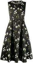 Erdem floral printed evening dress