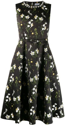 Erdem Floral Printed Evening Dress