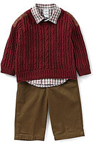 Starting Out Baby Boys 12-24 Months Pullover Sweater, Button-Down Shirt, & Pants 3-Piece Set