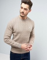 Jack Wills Marlow Cable Knit Jumper In Sand