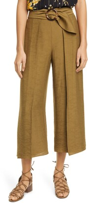 Joie Mairead Belted Culotte Pants