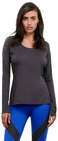 Kenneth Cole Netting Long-Sleeve Hooded Tee