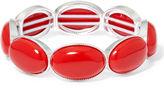 Liz Claiborne Red Gold-Tone Oval Stretch Bracelet