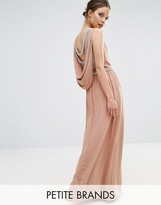 TFNC Petite Wedding Embellished Drape Back Maxi Dress