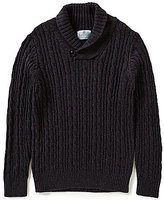 Class Club Big Boys 8-20 Shawl Collar Cable Knit Sweater
