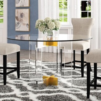 """Everly Quinn O'Hara Dining Table Size: 30"""" H x 53"""" L x 53"""" W"""