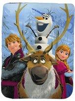 """Kids Fleece Throw Blankets 46"""" x 60"""" Several Options (Frozen)"""