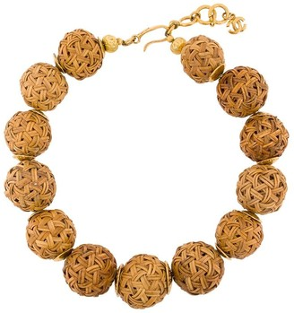 Chanel Pre Owned 1999 spheres short necklace
