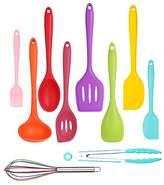 Kitchen Utensils Cooking Set, Home-Best-Buy 10 pcs Premium Heat Resistant and Non-Stick Silicone Kitchen Cooking/Baking Tools Set (Multicolor) (Multicolor - 10 pec)