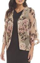 Preston & York Bonnie Floral Burnout Velvet Cardigan