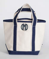CB Station Navy Monogram Handy Open Top Tote