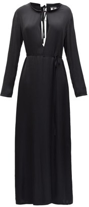 Ann Demeulemeester Keyhole Slit-hem Crepe Dress - Black