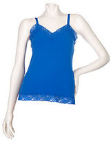 As Is Susan Graver Essentials Lace Trimmed Camisole