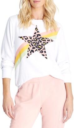 Wildfox Couture Leopard Star Graphic Sweatshirt