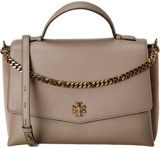 Tory Burch Kira Top Handle Leather & Suede Satchel