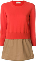 Marni panelled peplum sweater