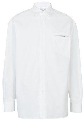 Bottega Veneta Popeline pocket long sleeve shirt