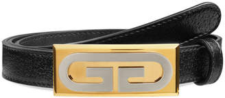 Gucci Men's Skinny Leather Belt w/ Solid Buckle