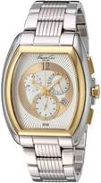 Kenneth Cole New York Men's KC9165 Classic Yellow Gold Bezel Barrel Case Watch