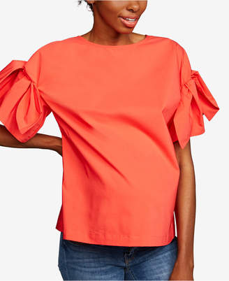 A Pea in the Pod Maternity Tie-Sleeve Top
