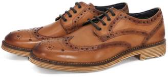 Curito Clothing Curito Wendover Men's Brogue Derby Shoes - Burnished Tan