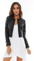BB Dakota Blakely Cropped Leather Jacket with Studs in Black