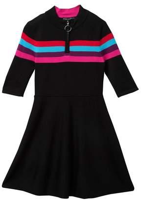 My Michelle mymichelle Half Zip Sweater Dress (Big Girls)
