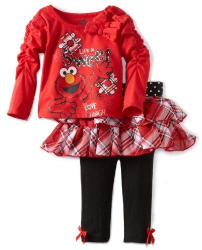 Sesame Street Baby-Girls Infant 2 Piece Elmo Life Is Sweet Skegging Set