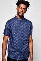 Boohoo Short Sleeve Geo Print Shirt