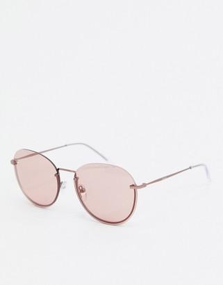 DKNY Concrete Jungle round sunglasses