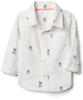 Gap Bunny oxford long sleeve shirt