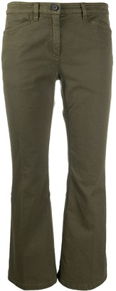 No.21 Cropped Kick-Flare Trousers