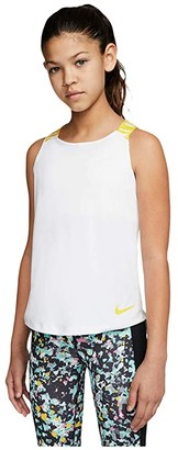 Nike Kids Dry Tank Top Elastika (Little Kids/Big Kids) (Black/White/White) Girl's Clothing
