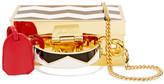 Mark Cross Grace Mini Gold-plated Enameled Shoulder Bag