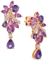 LeVian Le Vian® Precious Collection Multi-Sapphire (4-3/4 ct. t.w.) and Diamond (3/8 ct. t.w.) Drop Earrings in 14k Rose Gold