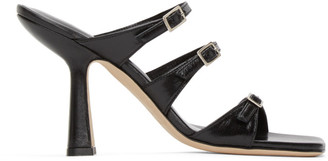 BY FAR Black Malene Heeled Sandals