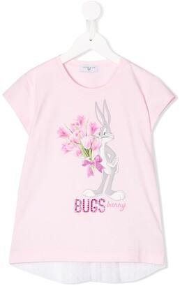 MonnaLisa Bugs Bunny print T-shirt