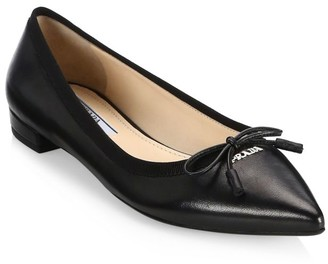 Prada Leather Ballet Flats