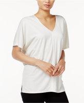 Bar III V-Neck Short-Sleeve Top, Created for Macy's