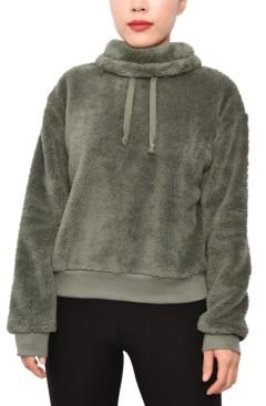 Planet Gold Juniors' Plush Cowlneck Sweater