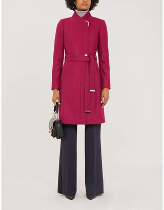 Ted Baker Metallic-trim wool-blend coat