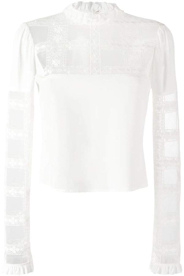 Giamba sheer panel longsleeved blouse
