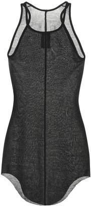 Rick Owens Silk-blend mesh tank top