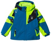 Spyder Blue and Green Mini Leader Ski Jacket